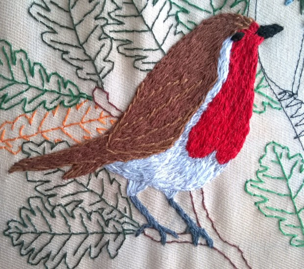 Embroidery Silk Robin.