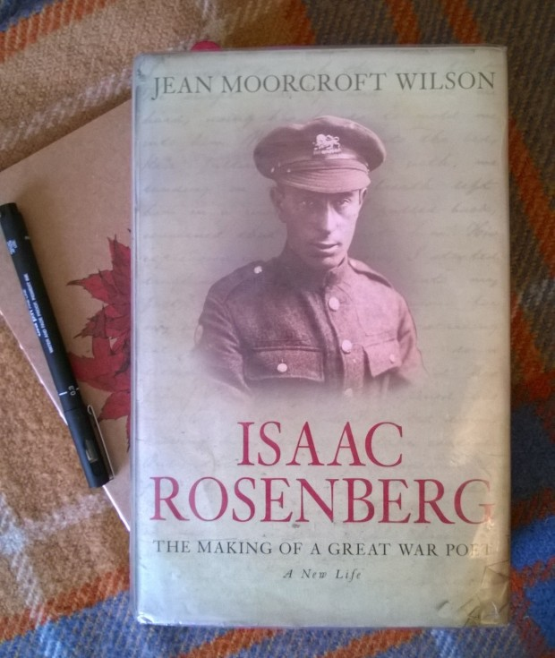 Intensive preparation for my portrait of Isaac Rosenberg.