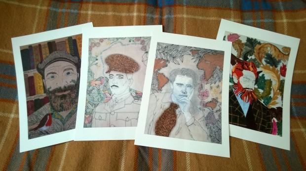 Giclee prints of my portraits.